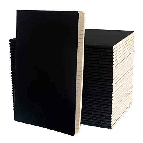 """Simply Genius (30 Pack) Travel Journal, Travelers Notebook Set: Softcover Journals to Write in for Women, Journal for Men, Writing Journal Notebook Lined, 92pg Ruled, 5.5"""" x 8.3"""""""