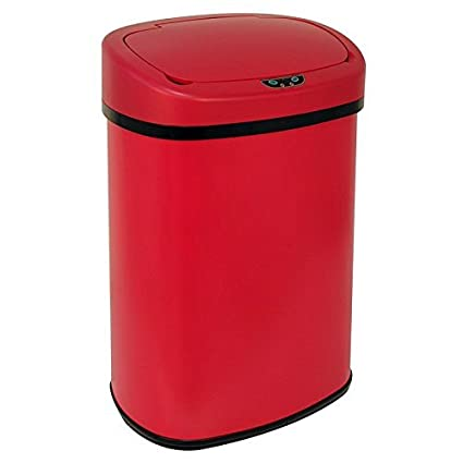 New Red 13-Gallon Touch Free Sensor Automatic Kitchen Office