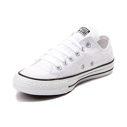 Converse Womens Chuck Taylor All Star Lo Jersey Quilted White Sneaker - 7 (Quilted Jersey)