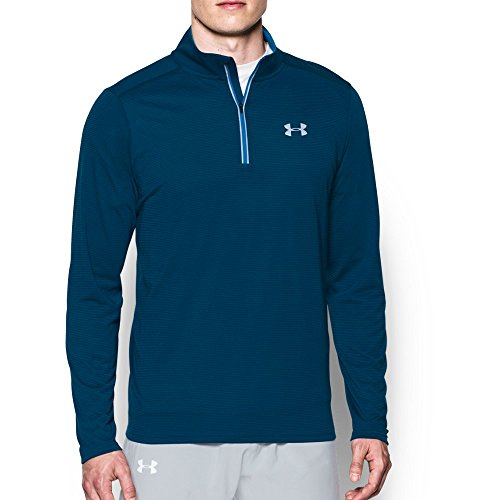 Under Armour Men's UA Streaker 1/4 Zip, Blackout Navy (998)/Reflective, Medium (Under Armour Mens Qualifier 1 4 Zip)