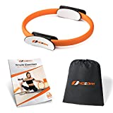 Nozam Pilates Yoga Ring Equipment Bundle with Non-Slip Grip Handles - Carrying Bag and Exercise...