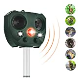 ZOVENCHI Solar Powered Ultrasonic Animal Repeller,Outdoor Waterproof with Motion Activated & LED Lights