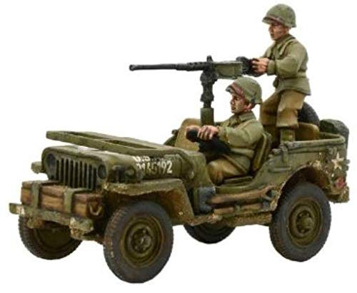- Bolt Action Us Army Jeep With 50 Cal Hmg Blister - R+m