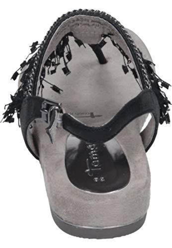 Caviglia 1 Alla Donna Metallic Con Sandali 28105 Nero 12 22 1 Cinturino Tamaris black Bnxqa88