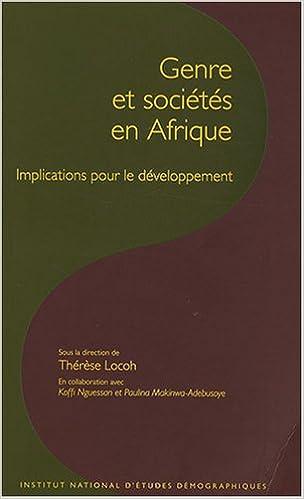 En ligne Genre et sociétés en Afrique : Implications pour le développement pdf epub