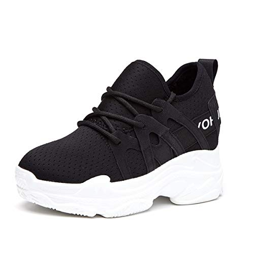 Red Thirty Running Sports Women'S 5Cm And Summer Wild Spring Nets Black Small Eight Bottom White Leisure Shoes Shoes KPHY Thick 7TwYqT
