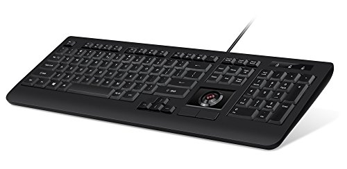 (Perixx PERIBOARD-521 US 11422 Wired Keyboard with Trackball - Standard Full Size Layout - Build-in Scrolling and DPI Switch Function)