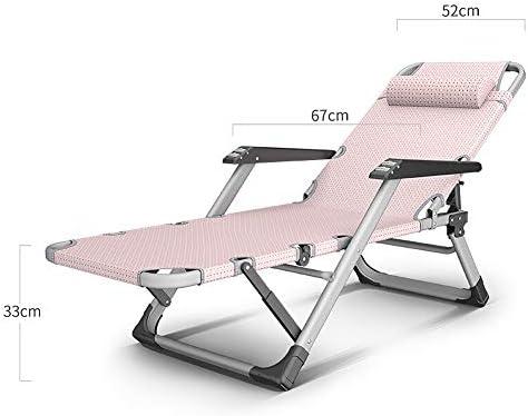 GXYAS Chaise longue pliante en plein air, bureau, chaise longue, chaise pliante, chaise pliante, chaise longue pliante Lazy lit facile à transporter