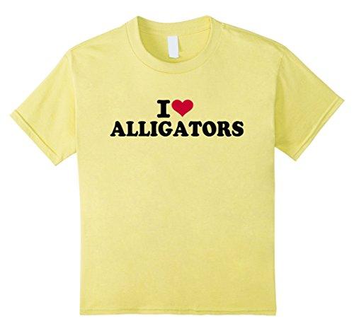 Kids I love alligators T-Shirt 12 Lemon Love Alligators