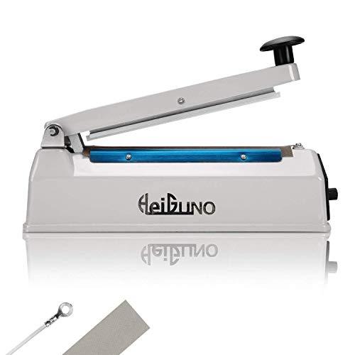 "HeiGuno 8"" / 200mm 110V Metal Shell Impulse Manual Hand Sealer Heat Sealing Machine Spare Teflon & Sealing Elements"