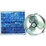 Ventamatic Solar-Powered Ventilating Fan with Panel - Gable-Mounted Ventilator, Model# VX2515SOLARGABL