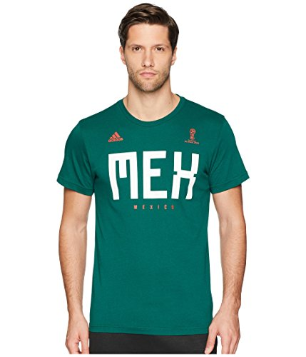 adidas Adult Men Soccer Tee, Green, X-Large