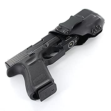 IWB Holster - Olight PL Mini - Black (Left-Hand, Glock 19