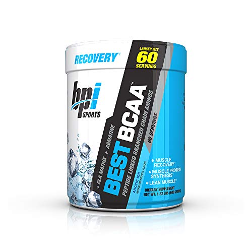 BPI Sports Best BCAA – BCAA Powder – Branched Chain Amino Acids – Muscle Recovery – Muscle Protein Synthesis – Lean Muscle – Improved Performance Hydration Arctic Ice – 60 Servings – 1.32 Pound