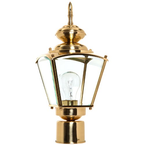 Boston Harbor 4007H2 3986627 Dimmable Outdoor Lantern, (1) 100/23 W Medium A19/Cfl Lamp, Polished - Light Harbor Outdoor Boston