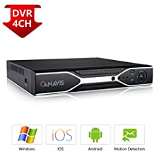 CANAVIS 4CH 1080N Hybrid 5-in-1 AHD DVR (1080P NVR+1080N AHD+960H Analog+TVI+CVI) Standalone DVR CCTV Surveillance Security System Video Recorder No HDD,Cameras Not Included, Silver