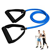 HEYFIT Single Resistance Band Latex Tube Fitness Exercise Bands Training for Arms Legs Back Chest Butt (Blue(25lbs))