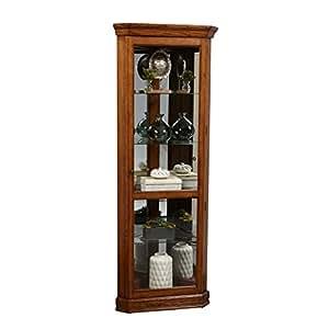 "Pulaski Oak Corner Curio Cabinet, 27"" x 16"" x 72"""