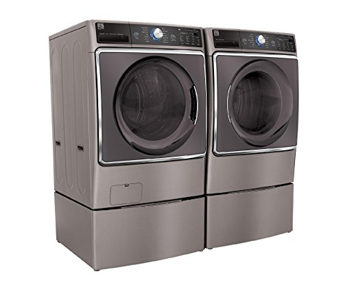 Kenmore Elite 9.0 cu. ft. Front Load Gas Washer and Dryer Bundle w/ Accela Steam- Metallic Silver