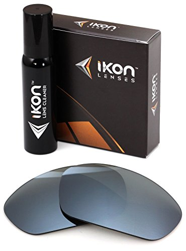Polarized Ikon Iridium Replacement Lenses For Oakley Minute 2.0 Sunglasses - Silver Chrome - Sunglasses Minute Oakley