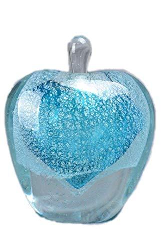 (Murano Style Art Glass Blue Heart Perfume Bottle MMW)
