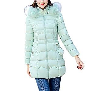 iLUGU Womens Fashion Coat Long Sleeve Hooded Ball Of Yarn Decoration Zipper Pocket Fuzzy Collar Outwear Warm Coat