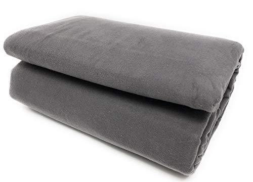 Maymarg Bedding%100 Cotton Heavyweight Flannel Plain Flat Sheet (Grey, - Flannel Sheet Flat