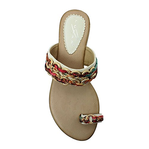 Lunar Womens Gina Toe-Loop Sandals JLH793 WT White-multi BZV9nUxV