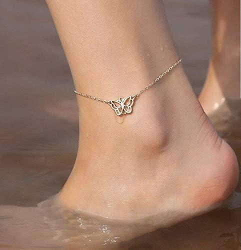 n a Bracelet De Cheville Papillon Couleur Or Strass Jambe Bracelet /Ét/é Pieds Nus Plage Accessoires Bracelet De Cheville pour Femmes Bijoux