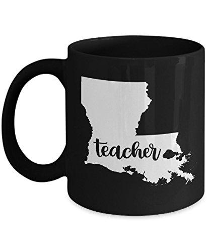 Louisiana Teacher Home State - Back To School - Teacher Day Coffee Mug Gift 11oz Ceramic Black (Cookie Baskets Shreveport La)