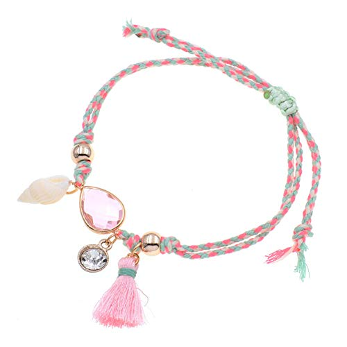 (CTRCHUJIAN Women's Anklet Handmade Shell Crystal Anklet Bracelet Summer Beach Party Footwear Jewelry)