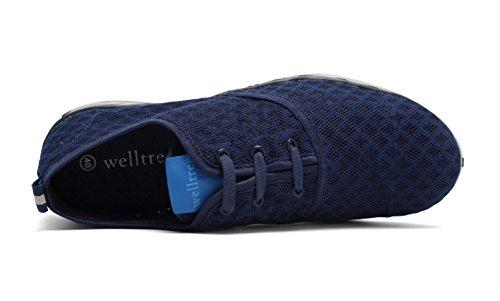 Welltree Unisex Womens & Mens Quick Dry Mesh Traspirante Aqua Water Scarpe 3-navy
