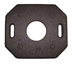 Trim Line Channelizer Base, Black, 30 lbs