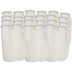 Aquatic Experts Filter Socks 200 Micron - 4 Inch Ring by 14 Inch Long – 24 Pack- Long - Premium Aquarium Felt Filter Bags - Custom Made in The USA