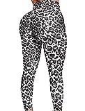 SEASUM Women's High Waist Yoga Pants Tummy Control Slimming Booty Leggings Workout Running Butt Lift Tights M