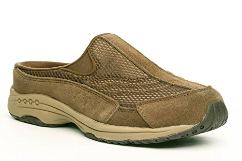 Easy Spirit Traveltime 8 M Dark Green Suede Mules Shoes