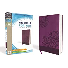 NIV, Bible for Kids, Leathersoft, Purple, Red Letter Edition, Comfort Print: Thinline Edition