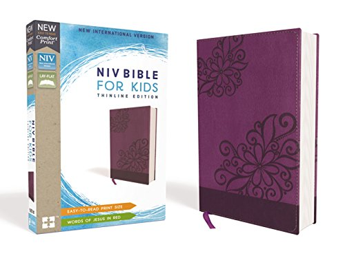 (NIV, Bible for Kids, Leathersoft, Purple, Red Letter Edition, Comfort Print: Thinline Edition)