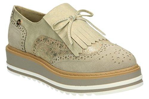 XTI 046708, Zapatos de Cordones Oxford para Mujer Beige