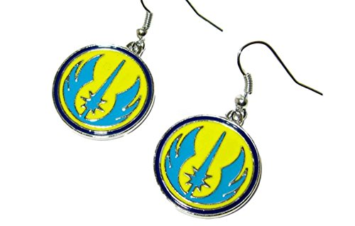 [Dangle Earrings Star Wars Jedi Color In Gift Box by Superheroes] (4 Star Dragonball Costume Color)