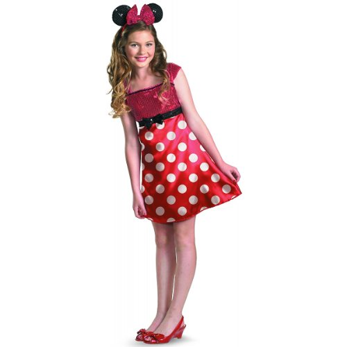 Disney Minnie Mouse Clubhouse Tween Costume, Red/White/Black, Large/10-12