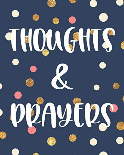 (Thoughts & Prayers: 100 Page Large Prayer Journal : Trendy Polka Dot Design : Teen Girls, Women)