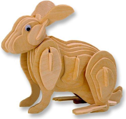 手数料安い 3-D Small Wooden One Puzzle - Small Rabbit your -Affordable Gift for your Little One Item DCHI-WPZ-M004A B004QDYF1M, エサンチョウ:14048707 --- quiltersinfo.yarnslave.com