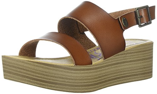 Blowfish Femmes Lola Wedge Sandale Marron