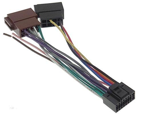 de la radio del cable adaptador de radio enchufe DIN ISO JVC 1