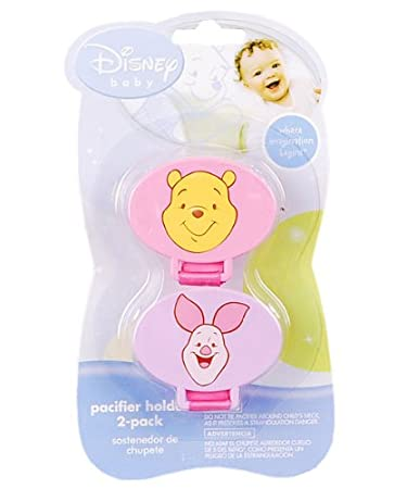 Amazon.com : Winnie the Pooh Pacifier Holders-2pk : Baby ...