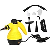 Multi-Purpose Handheld Pressurized Steam Cleaner Accessories for Stain Removal, Curtains, Crevasses, Bed Bug Control, Car Seats, and More With