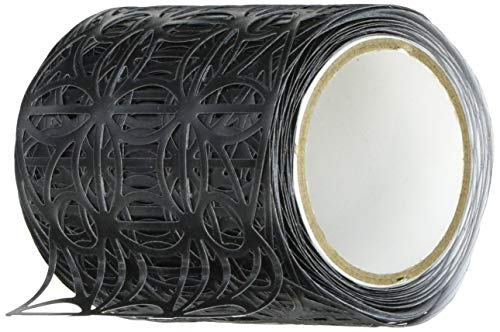 Karen Foster Design Black Leaf, 2-Inch Washi Die-Cut Pavilio Lace Tape,