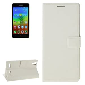 Silk Texture Horizontal Flip Leather Case with Card Slot & Holder for Lenovo K3 (White)