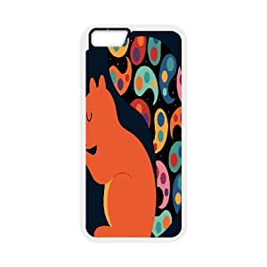 iPhone 6 4.7 Inch Cell Phone Case White Paisley Squirrel Ubyi